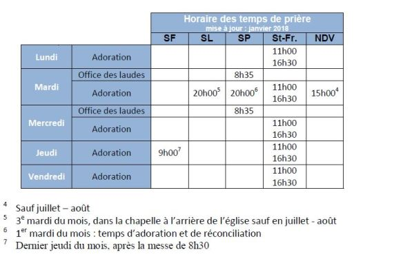 horaire 2